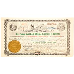 Yankee Girl Gold Mining Co. of Bullfrog Stock Certificate