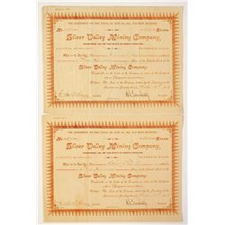 Silver Valley Mining Company Stock Certificate  Pair