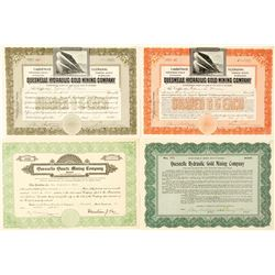 Quesnelle Mining Stock Certificates, British Columbia