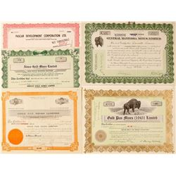 Manitoba Mining Stock Certificate Group