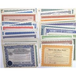 Large Ontario Mining Stock Certificate Collection