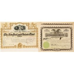 New York & Ontario Gold Mining Stock Certificates