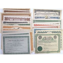 Porcupine District Mining Stock Certificates, Ontario