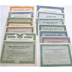General Canadian Mining Stock Certificate Group