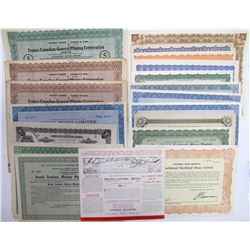 Generic Named Canadian Mining Stock Certificates