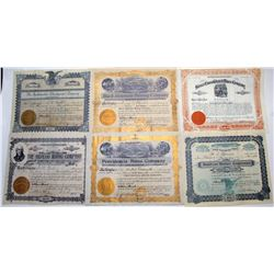 Mexican Mining Stock Certificate Suite
