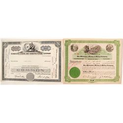 """Two Different 3 """"Ms"""" Mining Stock Certificates"""