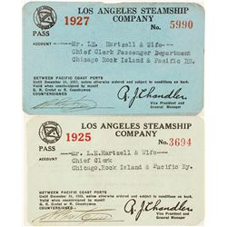 Two Los Angeles Steamship Co. Annual Passes