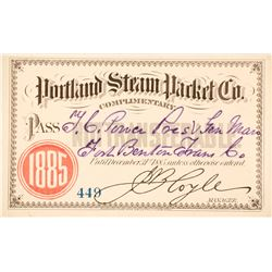 Portland Steam Packet Co. Steamer Pass, 1885, to T.C. Power