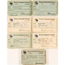Pacific Steamship Company Annual Pass Collection