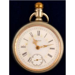 Elgin Pocket Watch/ Gold Hands