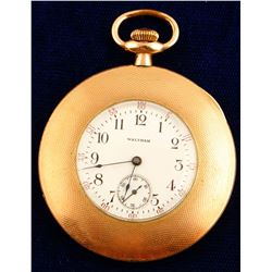 Small Vintage Waltham Open Face Pocket Watch