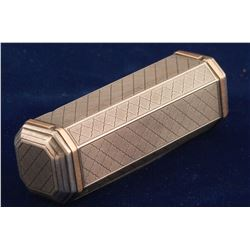 Sterling silver and gold inlay cigarette case
