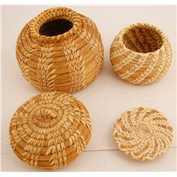 Papago Lidded Baskets