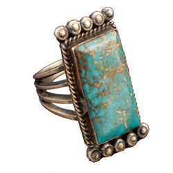 Vintage Turquoise/Silver Ring by H L Morgan