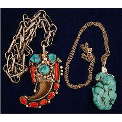 Two Pendants on Chains
