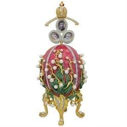 1898 Lilies of the Valley Faberge Egg 8""