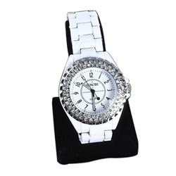 Ladies Stainless Steel & Crystal Wristwatch