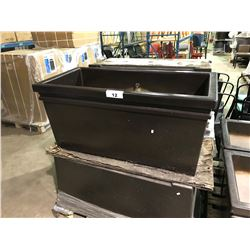 "GARDENSTONE 44"" X 22.5"" MOCHA INDOOR / OUTDOOR COMMERCIAL GRADE PLANTER"