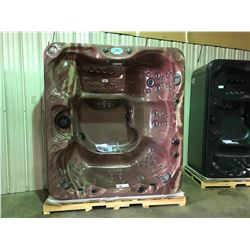 "CAL SPAS METALLIC BROWN 92"" X 84"" HOT TUB WITH 85 SS JETS, FREEDOM SOUNDSYSTEM BLUETOOTH STERO"