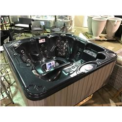 CAL SPAS TRANQUILITY 7' X 7' HOT TUB WITH 40 HALO SS JETS, 3 PILLOWS, 5.5 KW HEATER,