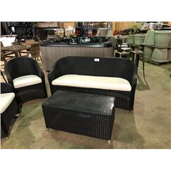 ELIZABETH PATIO SOFA SET WITH CUSHIONS,