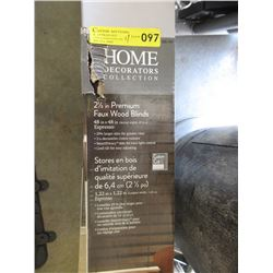 """4 Boxes of New 2 1/2"""" Premium Faux Wood Blinds"""