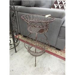 2 Tiered Metal Plant Stand