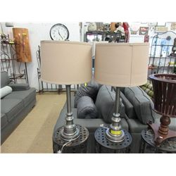 """Pair of 30"""" Table Lamps with Shades"""
