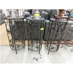 3 Metal Plant Stands