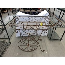Metal Tea Trolley Plant Stand