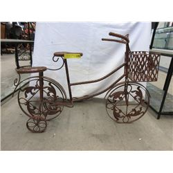 Metal Garden Art Bicycle Plant Stand
