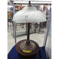 """20"""" Tall Metal Table Lamp with Glass Shade"""
