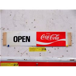 "Coca-Cola ""Open-Close"" Door Sign"