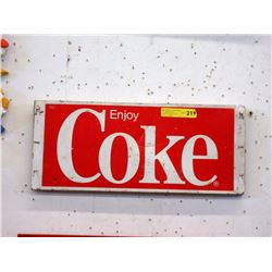 1970s Tin Coca-Cola Advertising Sign