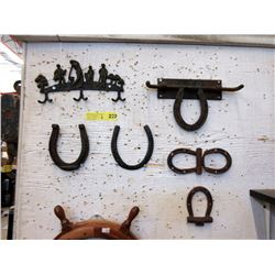 Metal Key Rack, Horseshoes & Horseshoe Decorations