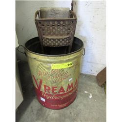 Vintage VREAMAY Can with Mop Squeezer
