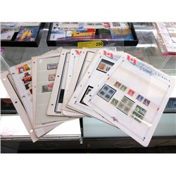 15 Pages of Assorted Uncancelled Canadian Stamps