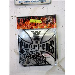 5 New Packages of New West Coast Chopper Stickers