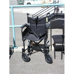 Folding Wheel Chair with 2 Foot Rests