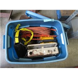Bin of Tools, Extension Cords & More
