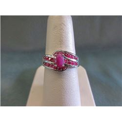 Gorgeous Sterling Silver Ruby Gemstone Ring