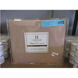New Queen 3 Piece Duvet Cover Set - Tan