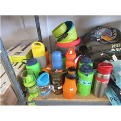 Plastic Camping Plates & Water Bottles