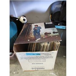 Box of Vintage LP Records