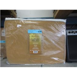 New Twin Size Micro Fleece Sheet Set - Caramel