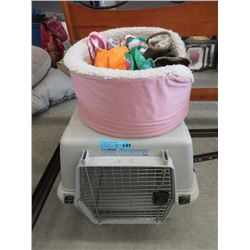 Mid Size Pet Crate, Bed & Accessories