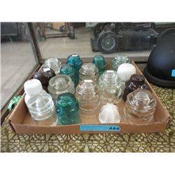 17 Vintage Insulators - Assorted Materials