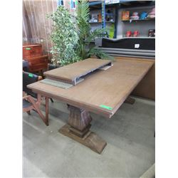 New Home Elegance Trestle Table With Leaf