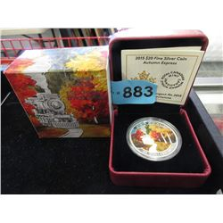 2015 Coloured Canadian $20 Fine Silver Coin